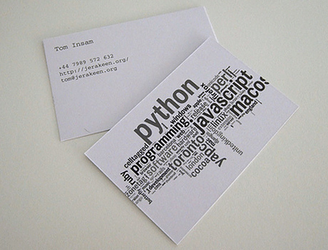 python-business-card-design