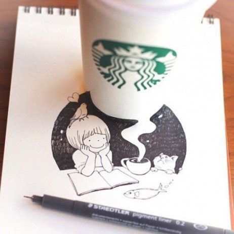 starbucks-cup-drawings-tomoko-shintani-1-600x600-550x550