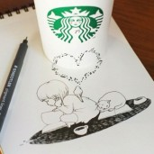 starbucks-cup-drawings-tomoko-shintani-3-600x600-550x550