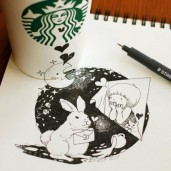 starbucks-cup-drawings-tomoko-shintani-4-600x600-550x550