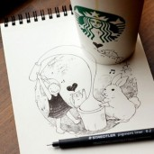 starbucks-cup-drawings-tomoko-shintani-5-600x600-550x550