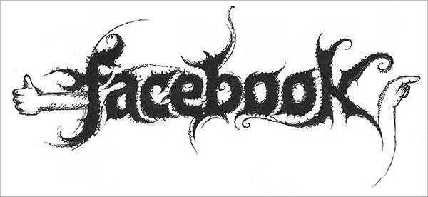Facebook-Logo-in-Black-Metal-typography