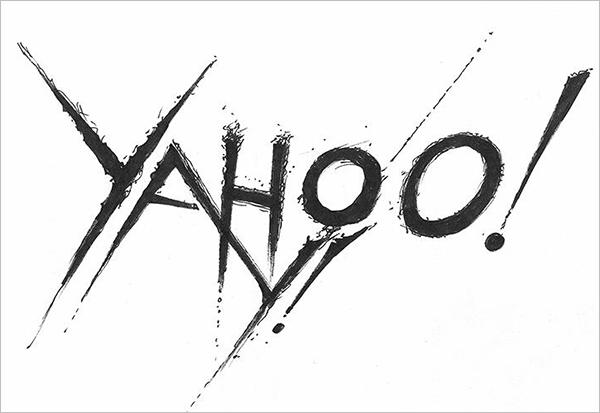 Yahoo-Logo-in-Black-Metal-typography