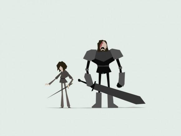 Jerry-Liu-Game-of-Thrones-Fan-art-arya-hound-580x435