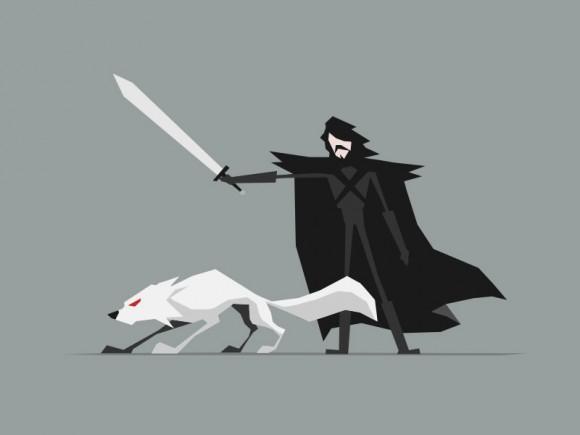 Jerry-Liu-Game-of-Thrones-Fan-art-jon-snow-580x435